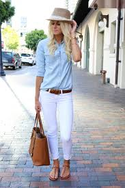 Classy Clothes For Ladies What To Wear With White Jeans 20 Perfect Brown Sandals