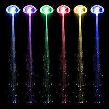 riorand 6 pack light up fiber optic led hair lights