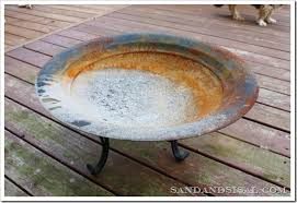 Old Fire Pit - repainting an old fire pit sand and sisal