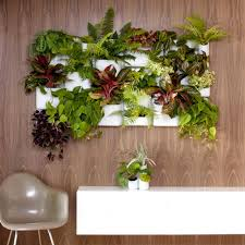 Herb Planter Indoor Living Room Indoor Living Wall Planter With Black Microfibre