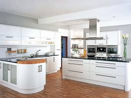 l shape kitchen decoration using white wood glass door ikea