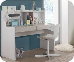 bureau enfnat bureau enfant iléo blanc et bois avec rangements