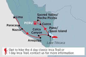 Us Desert Map Lima To Cusco Peru Tours Peregrine Adventures Au