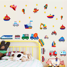 boys wall stickers all about plane train carore kids nursery home wall sticker