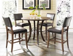 9 piece round dining set round bar table bar height dining table