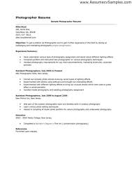 exles of cover letter for resumes photography assistant cover letter fungram co