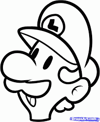 draw luigi easy step step video game characters pop
