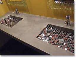 How To Make A Concrete Bench Top Best 25 Glass Concrete Countertops Ideas On Pinterest Glass
