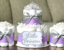 lavender baby shower decorations princess tiara cake baby girl pink gold crown royal