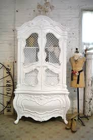 White Painted Furniture Shabby Chic by Painted Cottage Chic Shabby White Vintage French Armoire By The