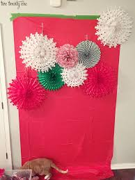 paper fan backdrop diy tissue paper pom pom and fan backdrop