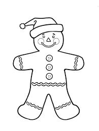 gingerbread men santa claus coloring gingerbread men
