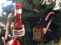 make a mini fireball bottle into a tree ornament