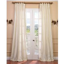 White Silk Curtains Exclusive Fabrics Signature Pearl White Textured Silk Curtain