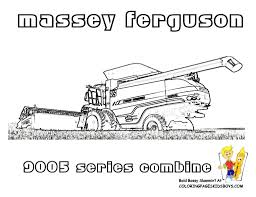 tractor coloring pages to print free tractors farm with combine