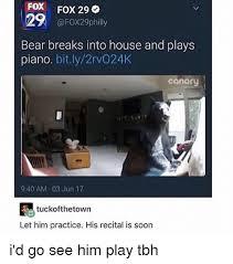 Piano Memes - fox fox 29 bear breaks into house and plays piano bitly2rvo24k