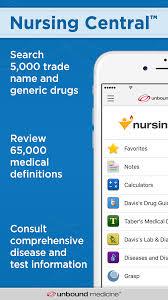 unbound medicine nursing central app for ipad iphone ipod