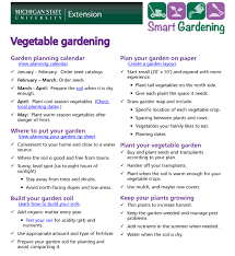 vegetable gardening tip sheet msu extension