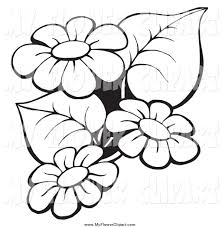 royalty free stock flower designs of printable coloring pages