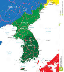 Map Of World Korea by South And North Korea Map Stock Photography Image 30430812