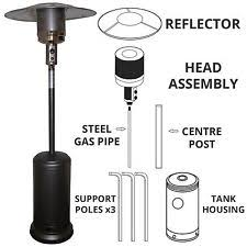 Fire Sense Patio Heater Replacement Parts by Fire Sense 4 Pc Patio Heater Reflector Dome Replacement Ebay
