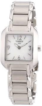 tissot ladies bracelet watches images Tissot women 39 s t02128582 t wave stainless steel jpg