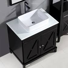 Aspen Bathroom Furniture Ove Décors 32 W X 22 D Aspen Vanity And Vanity Top With Vessel