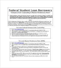 10 student loan promissory note templates u2013 free sample example