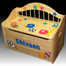 personalized deacon u0027s bench toy box natural toy boxes u0026 toy chests