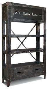 Industrial Bookcases Bookcase Solid Wood Bookcase With Industrial Iron Wheels Popular