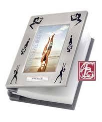 Engraved Photo Album Engraved Gymnastics Silhouette Photo Album
