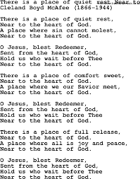 A Place Hymn Most Popular Church Hymns And Songs There Is A Place Of