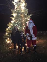 tree lights up green at darkest time of year easton courier