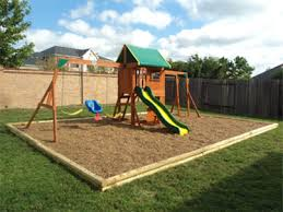 Backyard Swing Set Ideas Playset Swingset And Playground Borders Fall Zones