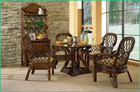 Regency Dining Table And Chairs Boca Rattan Coco Cay Rattan Dining Set 5 Pieces 4 Arm Chairs