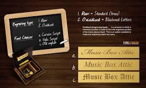 Engraved Music Box Engraving U0026 Gift Wrap Musicboxattic Com