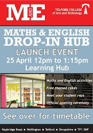 maths and english drop in hub launch telford college