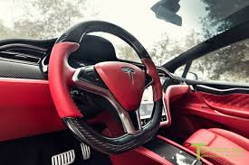red chrome bentley custom tesla model x with bentley red interior selling for 180k