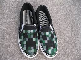 diy project minecraft creeper painted shoes how to fun easy kids