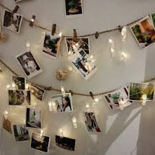 Battery Operated Light Strings by Babali Photo Clip Led String Lights 21ft 40 Photo Pegs Battery