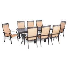 9 Piece Wicker Patio Dining Set - panama jack island breeze 9 piece aluminum patio dining set with