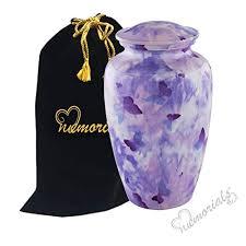 butterfly urn butterfly camouflage urn purple butterflies urn purple