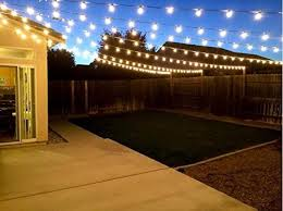 lights party string lights g40 globe bulbs warm white outdoor