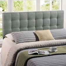 Tufted Linen Headboard by Modway Lily King Upholstered Headboard Multiple Colors Walmart Com