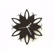 Art Wall Clock by Amaryllis Flower Black Acrylic Wall Clock A Piece Of Wall Art