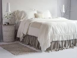 100 linen luxury french vintage ruffled duvet cover u0026 set