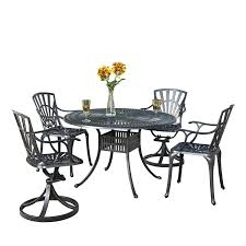 home styles 5560 3258 largo 48 round table 2 arm chairs and 2