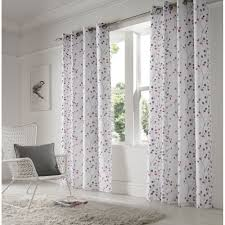 alan symonds berry purple readymade eyelet curtains available now