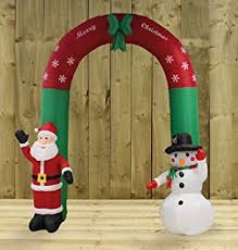 Large Inflatable Christmas Decorations Uk by Inflatable 1 8m Christmas Tree Lantern With Santa U0026 Disco Ball