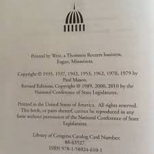 mason u0027s manual of legislative procedure paul mason 9781580246101